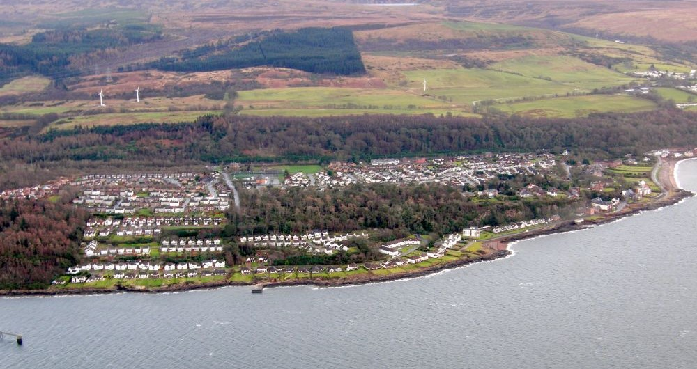 Wemyss Bay Ariel View